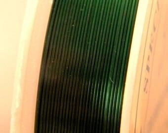 spool of 12 M Fil 0.4 mm - Green dark - for DIY jewelry - F16