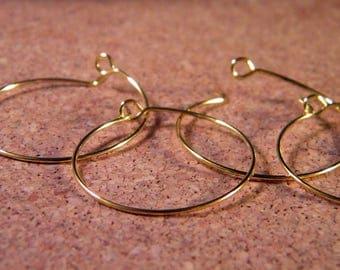 10 rings / hoop earrings gold plated 25 mm N ° 3