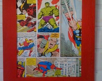 Marvel Comics weathered old frame