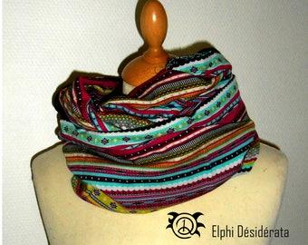 "Infinity scarf, snood""inca multicolored""tubular scarf woman inca style"
