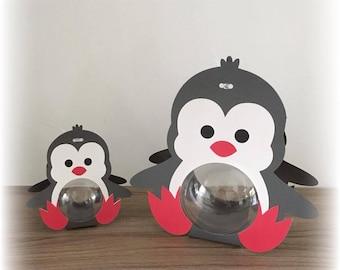 Box dragees original taupe gray Penguin + ball