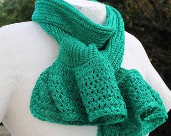 Emerald Green linen scarf