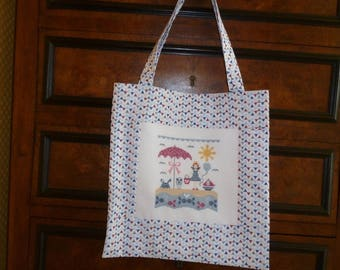 "Tote bag fabric ""sailor spirit"" smelling summer"
