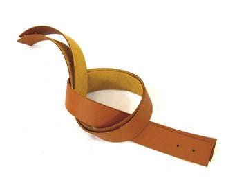 Handles riveting camel brown leather grained 50cm