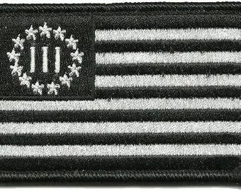 Three Percenter Tactical Patch - Black