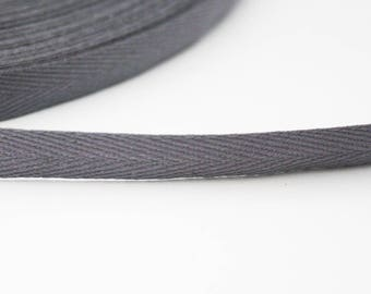 Serge 10 mm Ribbon, grey, 1 m
