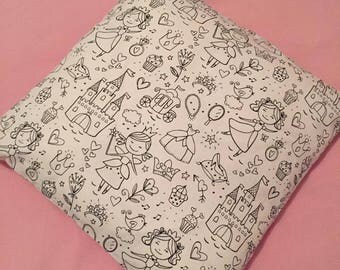 Coloring pillow cover