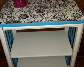 Flock hand painted accent table