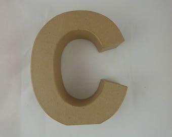 """Letter 3D decoration for home decor """"C"""""""