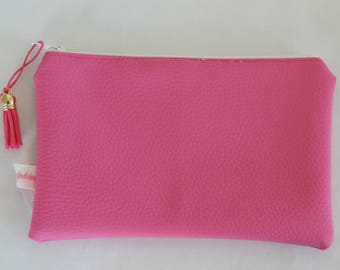 Pouch / pink leatherette - POC 16041 Kit