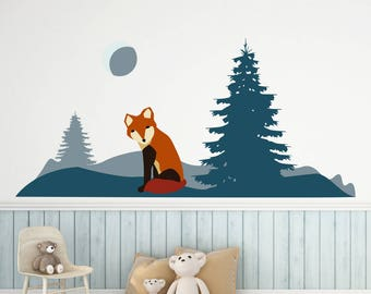 Wall stickers forest Fox