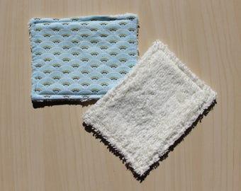 """Washable wipe """"small"""" - 8.5 x 11 cm - fan pattern"""