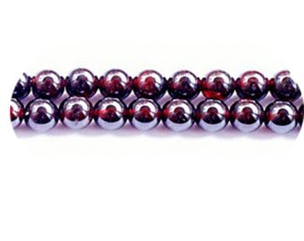 set of 2 Garnet beads 14mm quality flyers ++