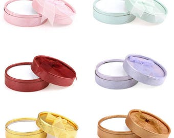 6 mixed boxes jewelry/gift paper round knot within 15 days