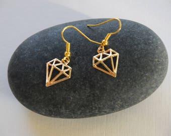 """""""Gold Diamond"""" earrings"""