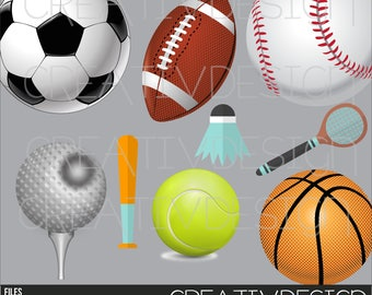 Sports, children, soccer, basketball, ball, tennis, racket