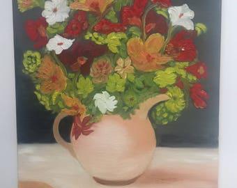 Flower Jar, bouquet, Clay Jar