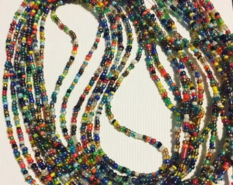 Adjustable Multcolored Waist Beads