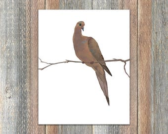 Mourning Dove Bird Print