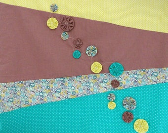 Baby blanket or child type asymmetrical patchwork