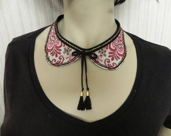collar jewel uniquely woven cotton fabric completely hand made
