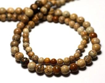 20pc - stone beads - Beige Jasper balls 3-4mm - 8741140011472