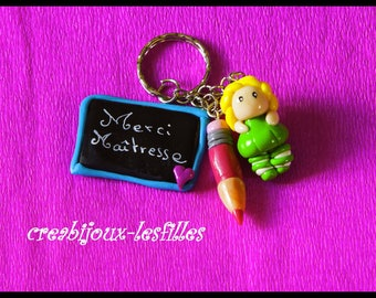 Fimo jewelry bags, thank you teacher heart jewelry jewelry birthday gift delicious polymer clay.