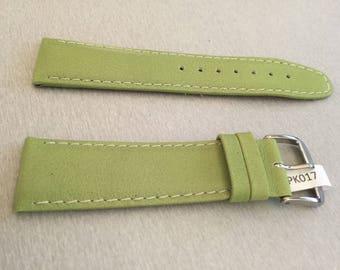 Handmade watch strap green 22 mm