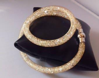 Double tubular Mesh Bracelet
