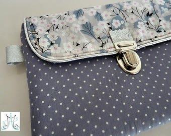 Grey polka - Dove gray Liberty Mitsi clasp Kit