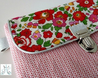 Trousse Peps attache cartable - Liberty Betsy Grenadine