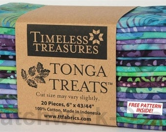 "Tonga Treats  6 Pack Jamboree from Timeless Treasures,m 20 6""x43/44"" strips"
