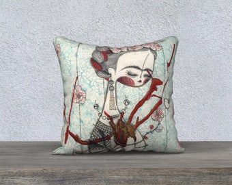 Bella Frida 18 x 18 pillow cover
