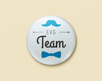 Badge wedding pink & blue - EVG Team