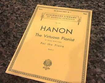 Vintage Music Book-Hanon-The Virtuoso Pianist: In Sixty Exercises For The Piano