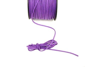 Purple 3 mm suede cord / 1.5 mm sold by the cut
