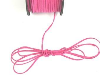 3 mm 1.5 mm cut FUCHSIA suede cord