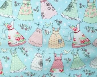Designer fabric Windham Fabrics blue pastel print - 20 cm