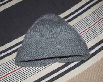 HAT CROCHETED HANDMADE GRAY SIZE 24 MONTHS