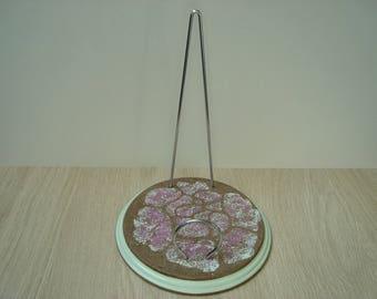 Pink medium desk letter holder