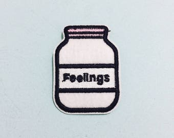 Bottle Patch - Iron on Patch, Sew On Patch, Embroidered Patch