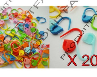 200 pins plastic mesh Crochet multicolor wool knitting stitch markers