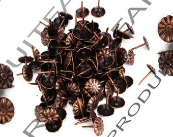 Set of 80 nail decorative copper upholstery tacks to embellish your furniture safe 11 * 16 mm frame jewelry box