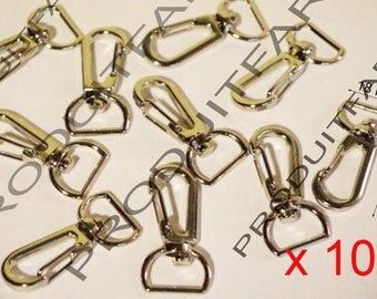 10 lobster clasps swivel Chrome handle Bronze bag Crochet Tote 18 * 37 mm