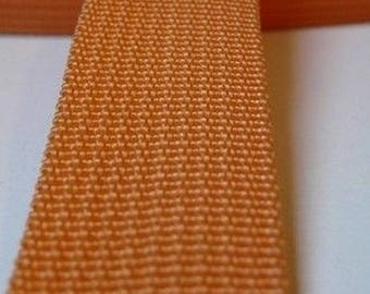 25 mm orange polypropylene webbing