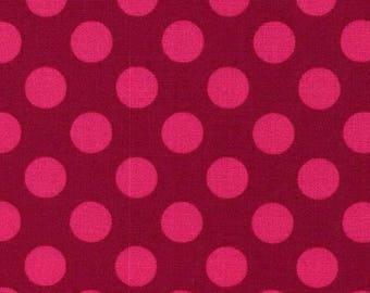 Patchwork polka dot ta dot Fuchsia Miller fabric