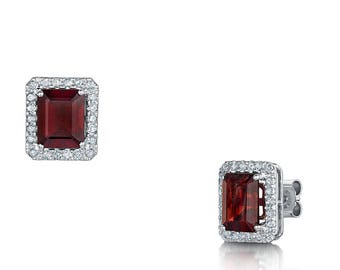 Garnet and diamond earrings 7.95ct