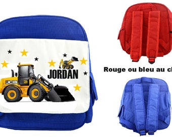 "BACKPACK CHILD ""WORK"" PERSONALIZED WITH CHILD'S NAME"