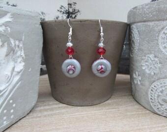 "Original earrings and Crystal ""Merlot"""