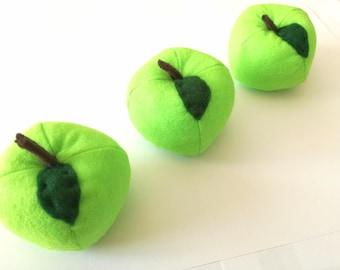 Green felt Apple fruit tea party food market